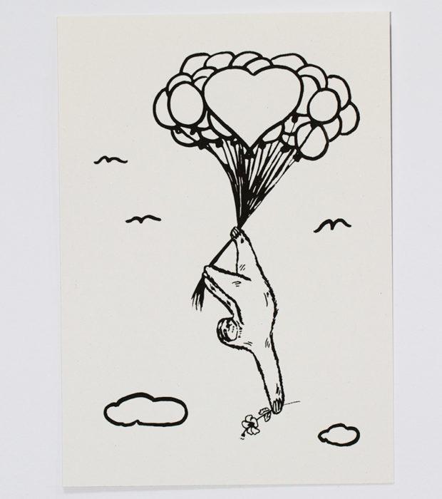 Flying-Faultier-Freddi-karte