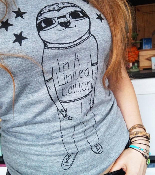 Im-a-limited-edition-shirt-grau-faultiershirt-lovelysloth