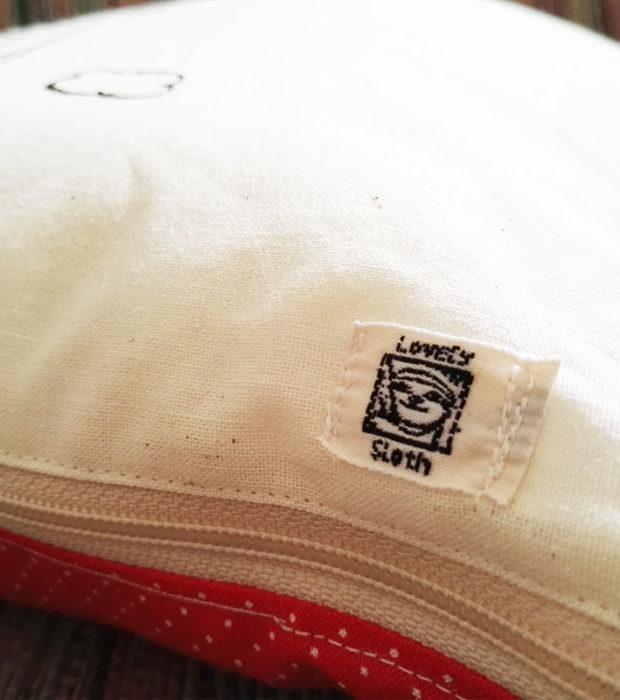 Dekokissen Baumwolle Faultier Flying Freddi logo