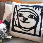 Sloth pillow faultier kissen Lovely SLoth Logo