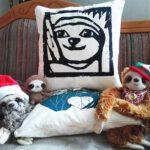 Sloth pillow faultier kissen Lovely SLoth Logo 2