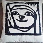 Sloth pillow faultier kissen Lovely SLoth Logo nah