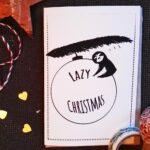 Lazy Christmas Weihnachtskarte