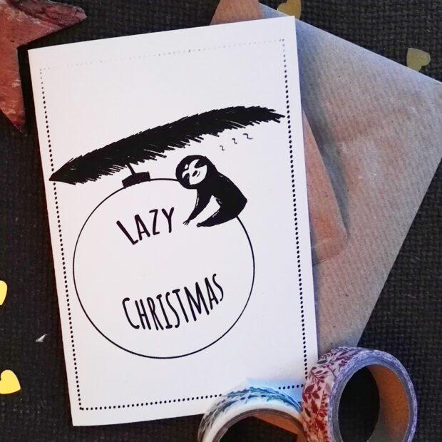 Lazy Christmas Weihnachtskarte2