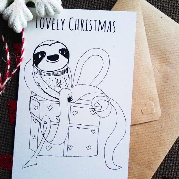 Lovely Christmas Karte mit Umschlag