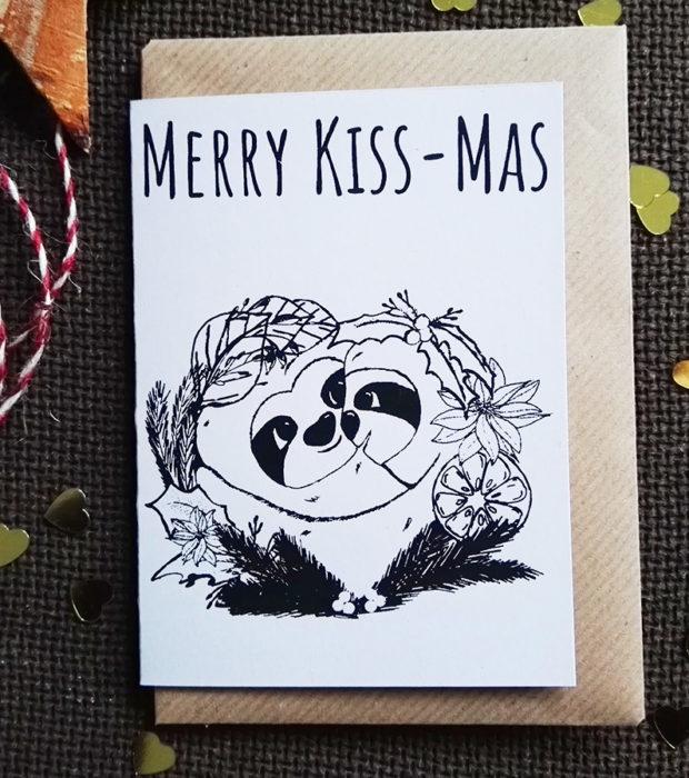 Merry Kissmas Karte