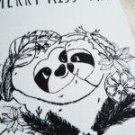 Merry Kissmas Karte nahaufnahme