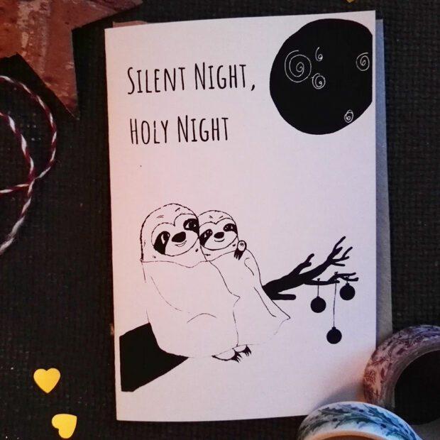 Silent Night Weihnachtskarte mit Briefumschlag 2