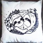 Sloth pillow faultier kissen slothlove komplett