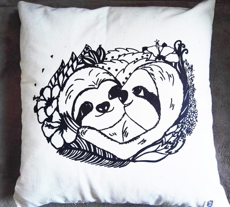 Sloth pillow faultier kissen slothlove komplett