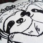 Sloth pillow faultier kissen slothlove schraeg