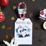 merry kissmas christmas tag
