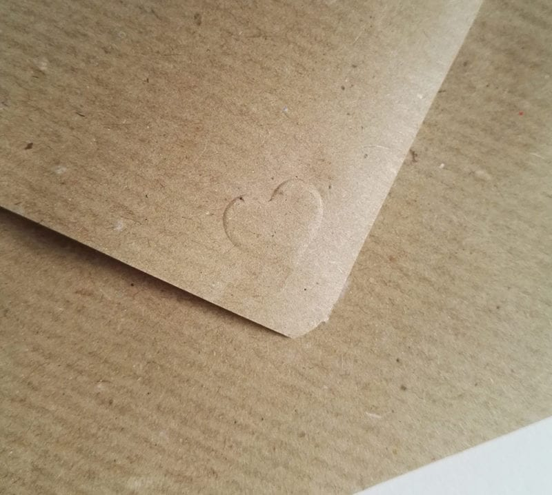 Faultier Klappkarte Liebeskarte Faultiere Briefumschlag selbstgefaltet Packpapier Herz