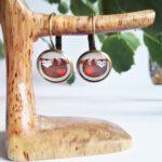 Faultier Ohrring Silber braun