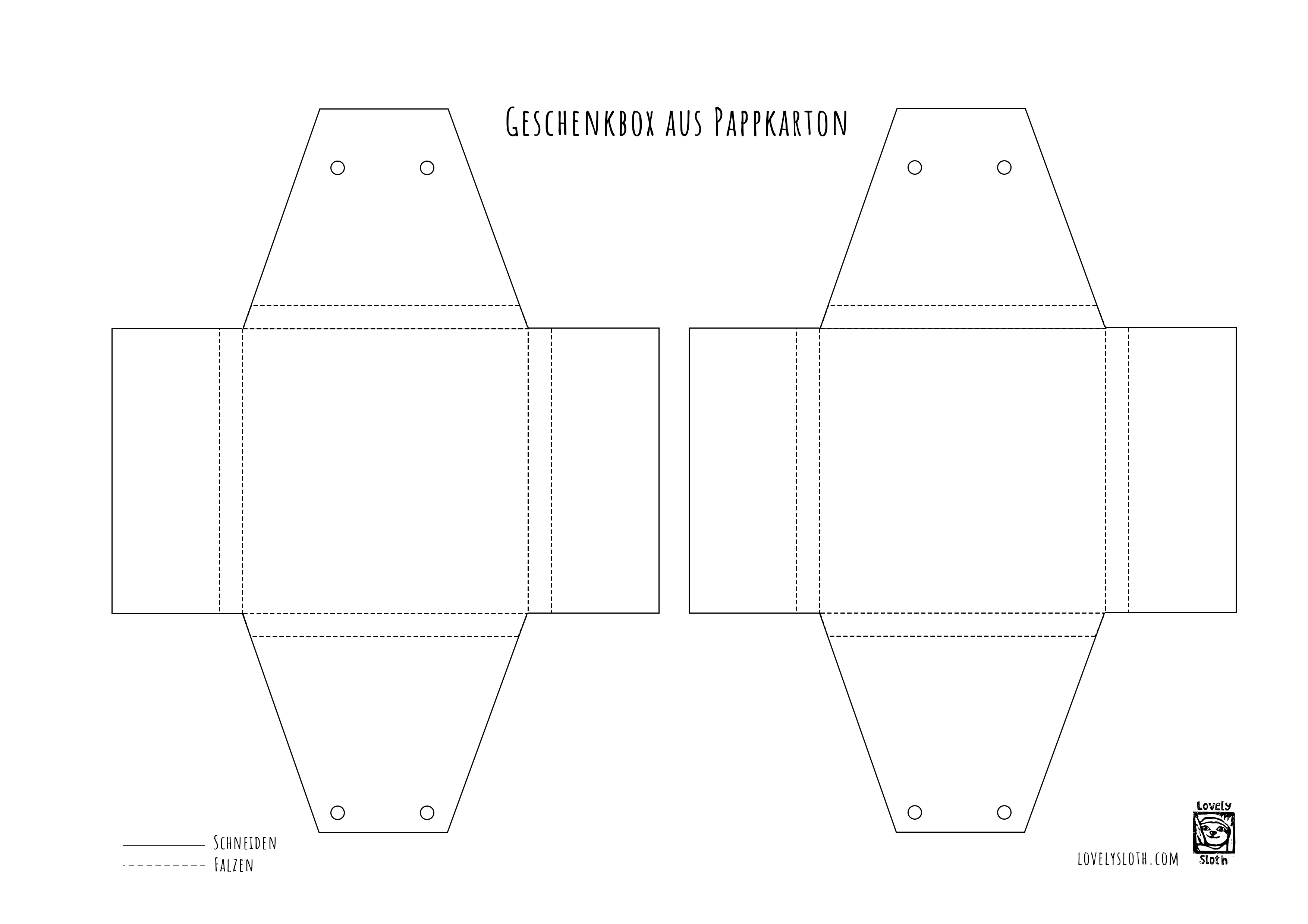 Berühmt Geschenkbox basteln anleitung – Europäische Weihnachtstraditionen &UX_09