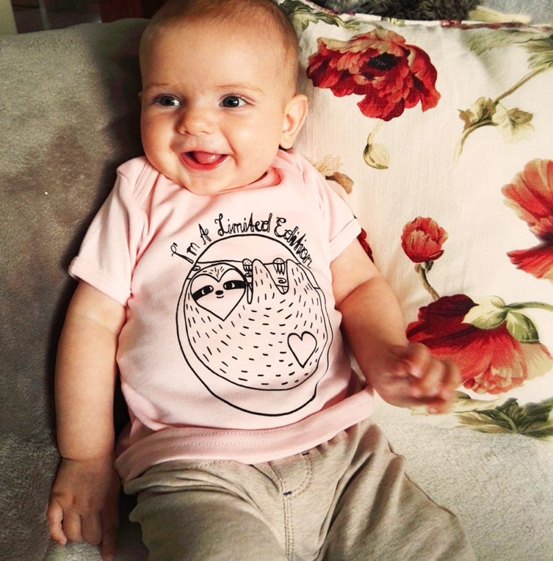 limited edition rosa babyshirt biobaumwolle
