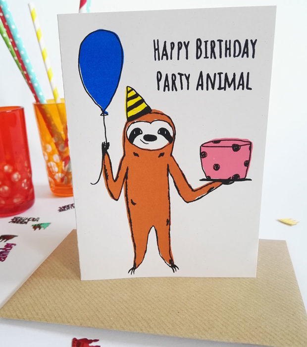 happy-birthday-party-animal-geburtstagskarte-lovelysloth