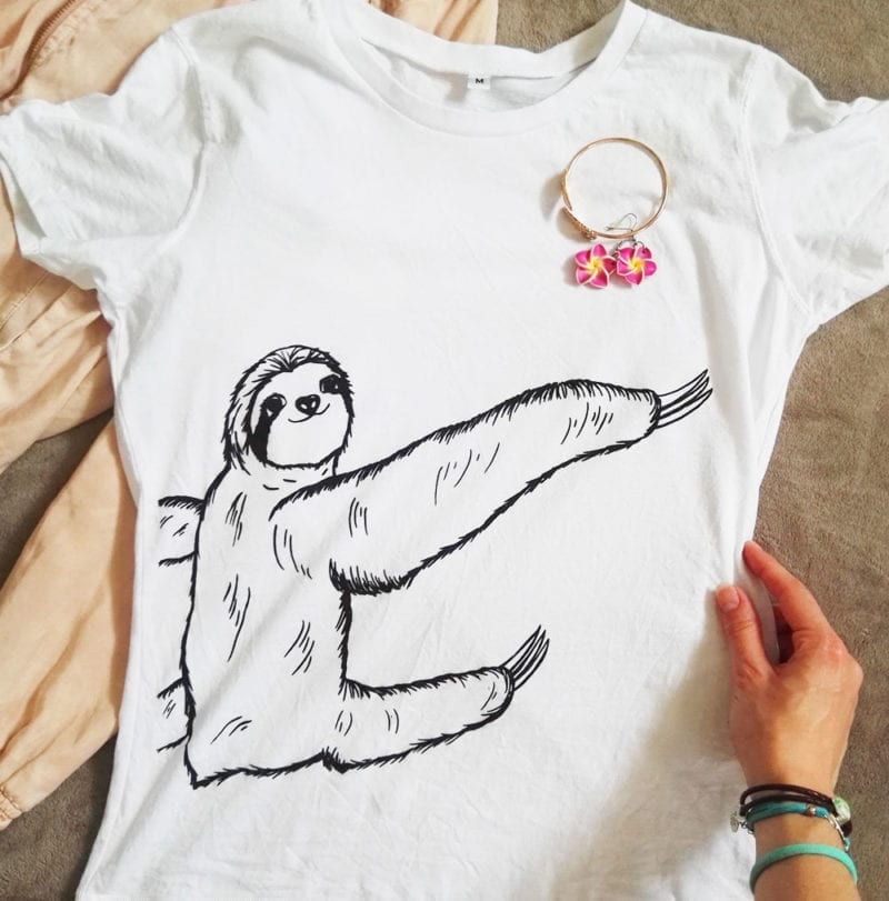 weisses-faultier-shirt-sibbel-nah-fashion-lovelysloth