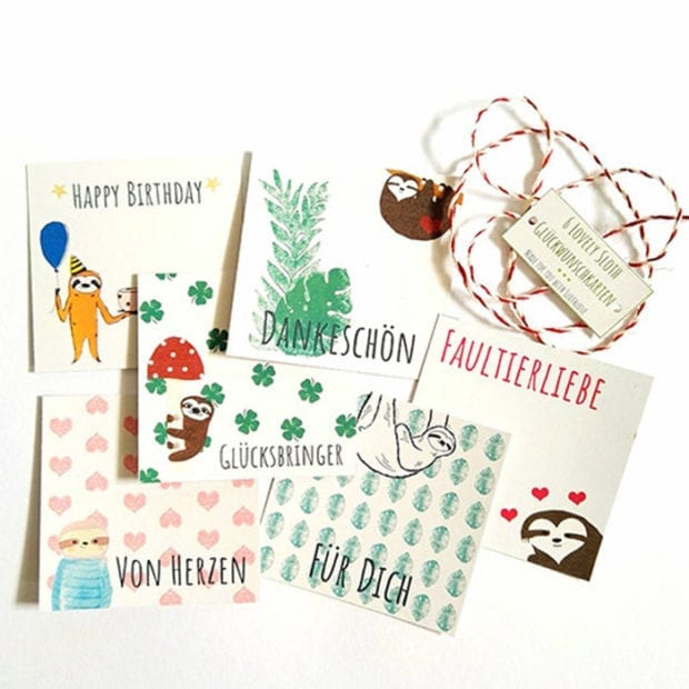 faultier-grusskarten-set-sechsteilig-lovely-sloth
