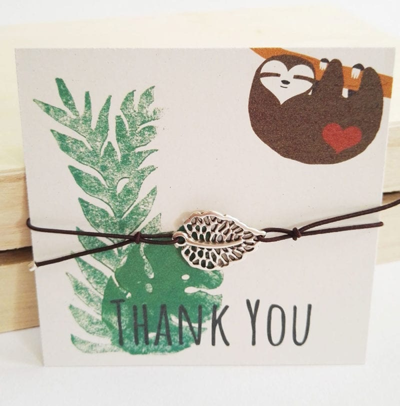 freundschaftsarmband-blatt-thank-you-lovelysloth