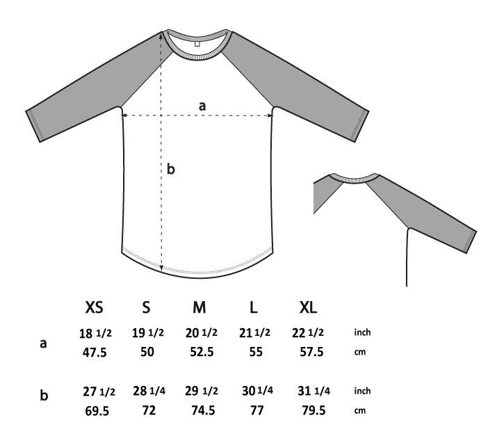 N22 unisex langarm shirt groessentabelle