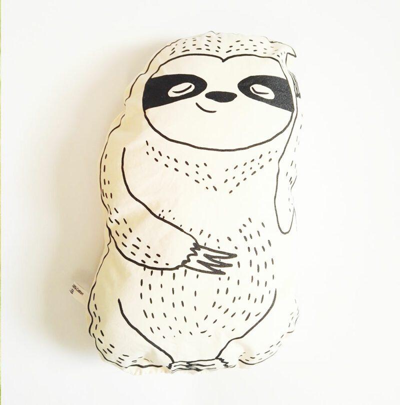 lovely-sloth-faultier-kuscheltier-kissen-vorderseite