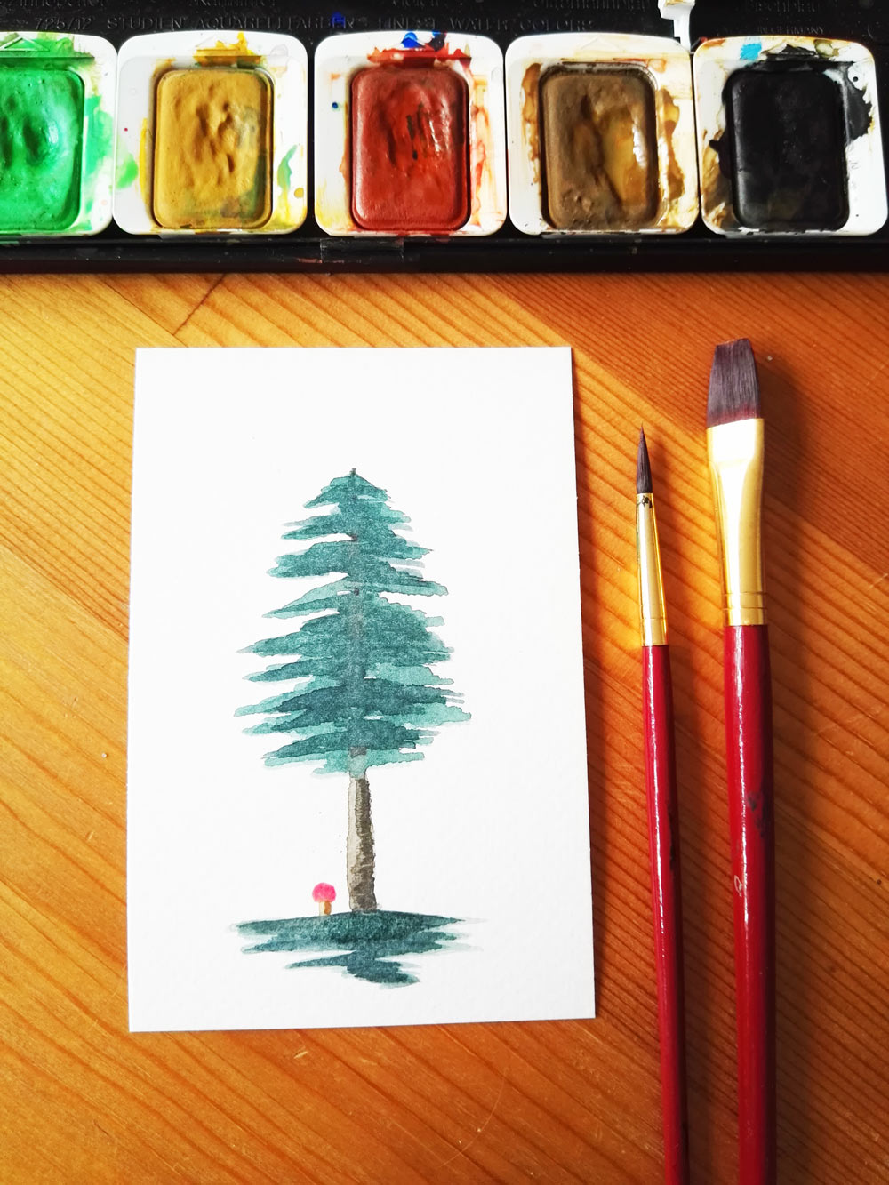lovely-paintings-mit-Christine-aquarell-tannenbaum